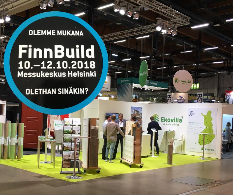 Ekovilla mukana Finnbuildissä 10.-12.10.2018