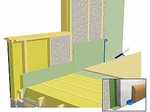 ekovilla levyvilla villaeristeinen seinä ekovilla korjausrakentaminen