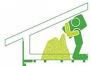 Ekovillapurun asennus