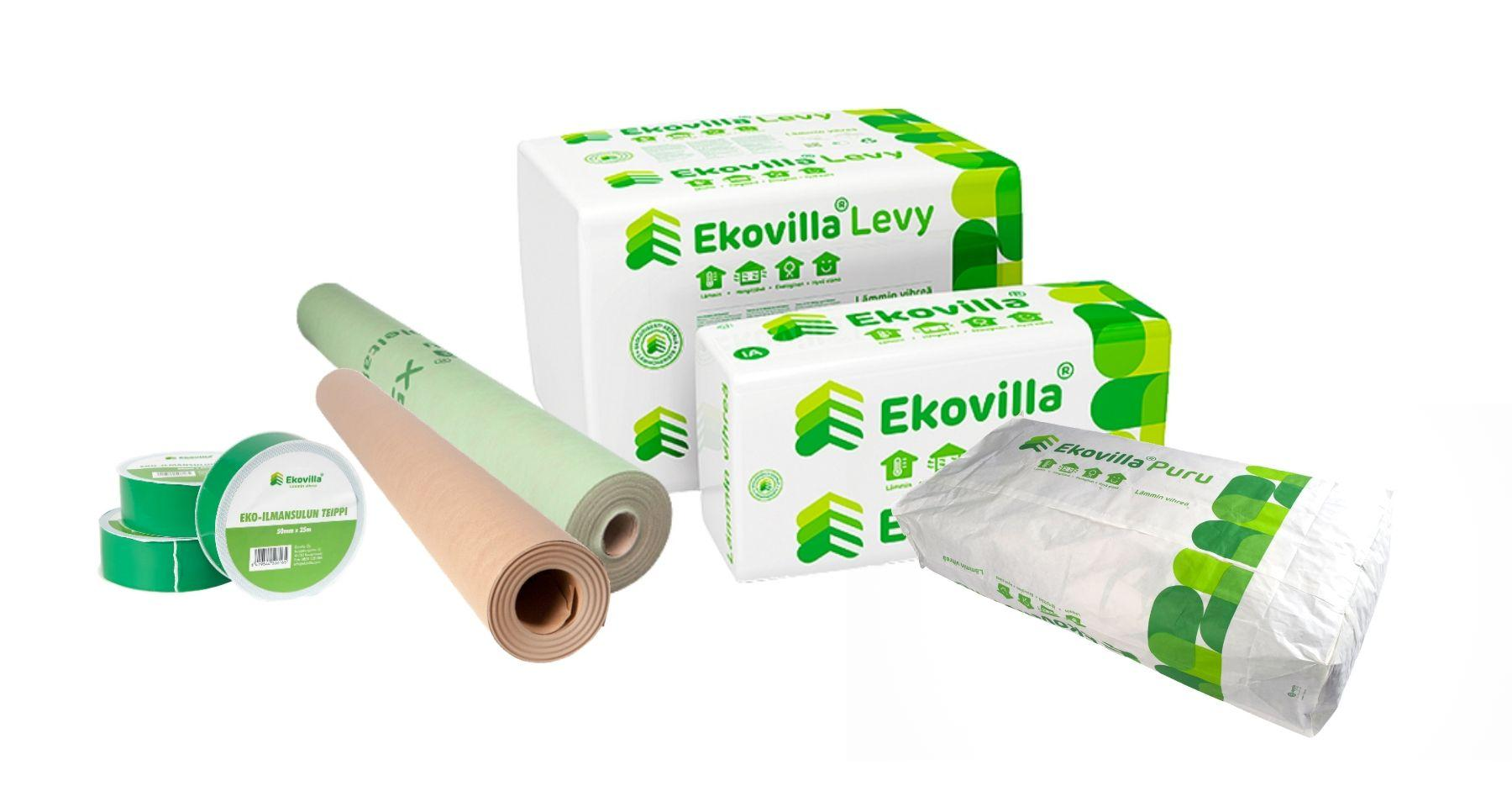 ekovilla tuotteet products insulation hermatic products