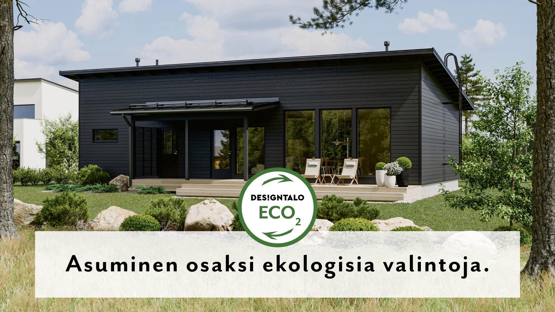 Hiilineutraaleja ECO2-koteja yhteistyössä Designtalon kanssa